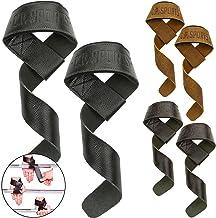 C.P. Sports Premium lifting straps leer voor fitness, bodybuilding en krachttraining - voor vrouwen en mannen - 2 jaar gar...