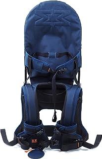 MINIMEIS G4 - Weltweit 1. Baby Schultertrage mit Rückenunterstützung - Faltbares Kinder & Baby Tragesystem für höchsten Komfort & Spaß unterwegs - 6 Monate - 5 Jahre & bis zu 18kg Blau/Schwarz