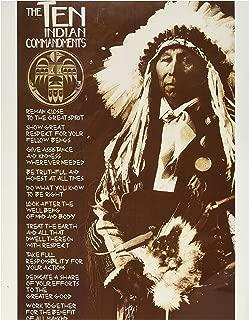 The Ten Indian Commandments Poster Print, 24x36 Poster Print, 24x36