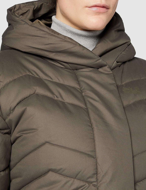 Jack Wolfskin Damen Kyoto Coat W winddichter Wintermantel Granite