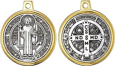 6pcs Saint St Benedict of Nursia Patron Against Evil Medal Pendant (0111)