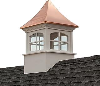 "Good Directions Westport Vinyl Cupola with Copper Roof, 30"" x 50"""