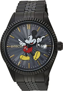 Invicta Men's Disney Limited Edition Quartz Watch with Stainless-Steel Strap, Black, 8 (Model: 22771)
