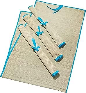 4 Pack Beach Straw Mat for Yoga, Picnic, Multi Purpose Natural Mat