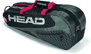 HEAD Elite 6R Combi Bolsa de Tenis Negro y Rojo