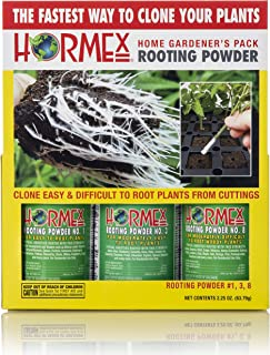 Hormex Rooting Hormone Powder #1,3,8 | for Easy to Moderately Difficult to Root Plants | Fastest IBA Rooting Powder Compound for Strong & Healthy Roots (3 Bottles)