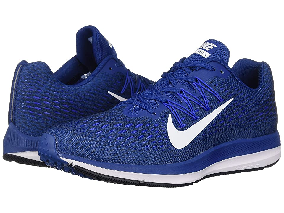 Nike Air Zoom Winflo 5 (Gym Blue/White/Obsidian/Hyper Cobalt) Men