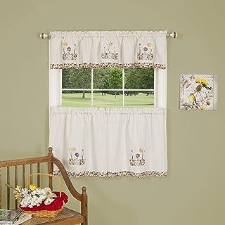Achim Home Furnishings Daffodil Window Curtain Kitchen Tier, Multi, 58 x 24-Inch, Set of 2
