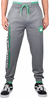 Men's NBA Jogger Pants Active Basic Bounce Fleece Sweatpants, Boston Celtics, Charcoal Heather, XX-Large