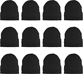 3M Thinsulate Women Men Knitted Thermal Winter Cap Casual Beanies-Wholesale Lot 12 Packs