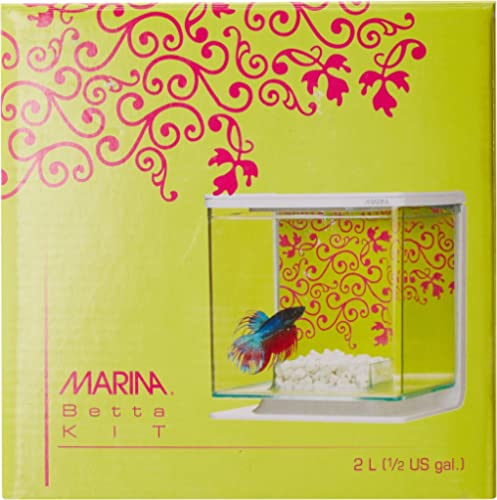 Hagen Marina Betta Aquarium Starter Kit, Girl Theme