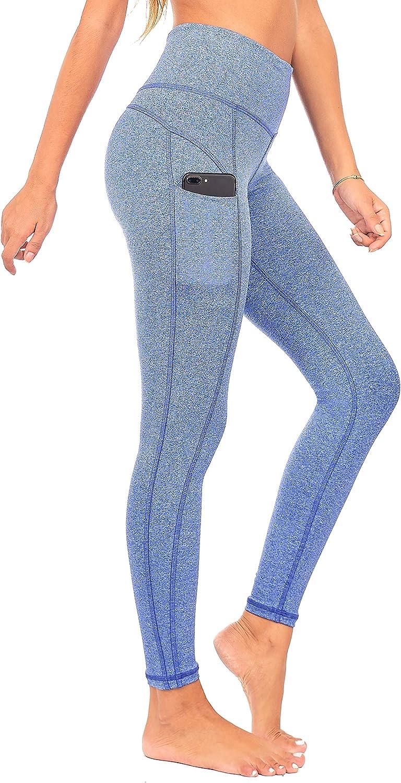 DEAR SPARKLE Yoga Leggings with 3 Pockets High Waist Workout Tummy Control Running Legging Plus (S1)
