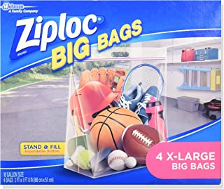 Ziploc Stand and Fill Big Bags, XL Big Bags, 4 Count (Pack of 2)