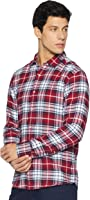 Diverse Men's Checkered Regular Fit Cotton Casual Shirt