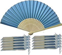 Rangebow SHF03 Azul claro/True Blue Paquete de 10 Venta al por mayor de tela de seda de la mano de bambú costillas de