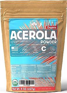 ACEROLA Powder 8oz   Certified Organic Acerola Cherry Powder   Immune System Booster   Natural Vitamin C SUPERFOOD   Blend...
