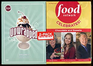 6 Dvd's ** Food Network ** Unwrapped Volume 1 ** Food Network Celebrates! Chocolate & Sweets ** 3 Dvd's Each Set ** 2 Pack Limited Edition