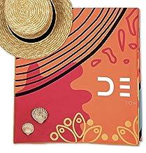 DENA - Toalla de Microfibra para Playa o Gimnasio, Secado rápido, absorción rápida de Lujo (XL 200 x 90 cm)