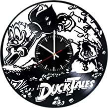 DuckTales Unique Wall Clock for bedroom, bathroom, kitchen, livingroom – gift idea for birthday, wedding, Mother's Day, Valentine's Day