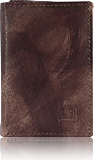 Le Craf Men's Brown Genuine Leather RFID Blocking Trifold Wallet (Size : 11 x 8.5 x 1.2 cm)