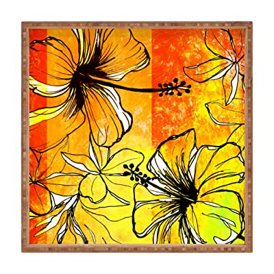 Deny Designs Ginette Fine Art Crazy Wildflowers Indoor//Outdoor Square Tray 12 x 12