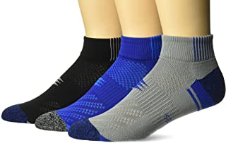 PowerSox Half Cushion Low Cut Socks with Mositure Control, 3 Pairs