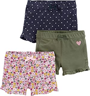 Toddler Girls' 3-Pack Knit Shorts