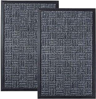تشک درب جلو ، مجموعه 2 عدد ، 29.5 17 17 ، تشک درب ورودی تمام پشت و هوا ، گاوصندوق داخلی و خارجی ، پشت لاستیکی ضد لغزش ، جاذب و ضد آب ، فرش های گیر افتادن خاک