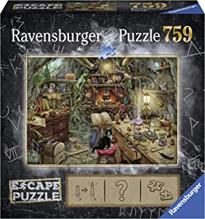 Ravensburger Escape Puzzle The Witches Kitchen 759 Piece Jigsaw Puzzle for Kids and Adults Ages 12 and Up - an Escape Room Experience in Puzzle Form