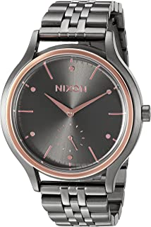 Nixon Women's 'Sala' Quartz Metal and Stainless Steel Watch, Color:Grey (Model: A9942271-00)