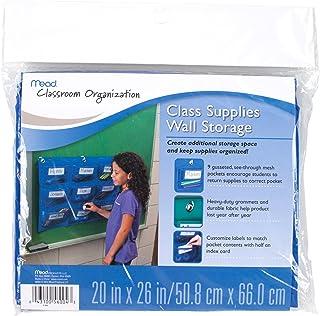 Mead School Supplies Wall Storage, 9 Pockets, Blue (72344)