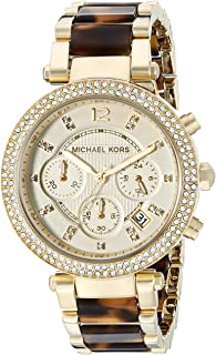 Women's Parker Gold Tortoise Watch MK5688