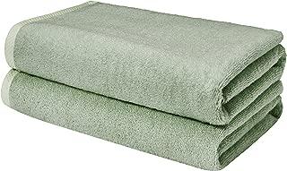 AmazonBasics Quick-Dry Bathroom Towels, Bath Sheet, Seafoam Green