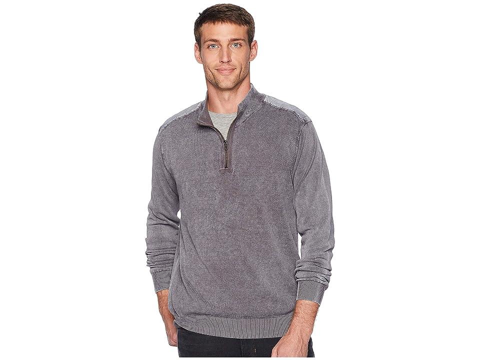 Mod-o-doc T-Street 1/4 Zip Pullover Cotton Sweater (Irongate) Men