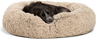 "Best Friends by Sheri DNT-SHG-TAU-3030-VP Luxury Shag Fuax Fur Donut Cuddler (Multiple Sizes) – Donut Cat and Dog Bed, 30"" x 30"", Taupe"
