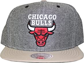Mitchell And Ness Men's NBA Chicago Bulls Denim Butter Soft Snapback Cap