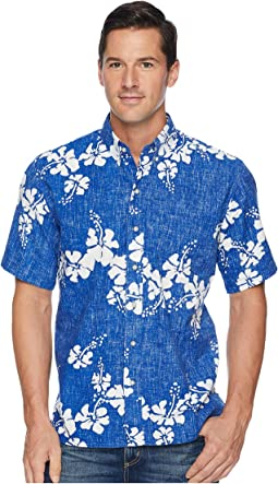 50th State Flower Button Front Aloha Shirt