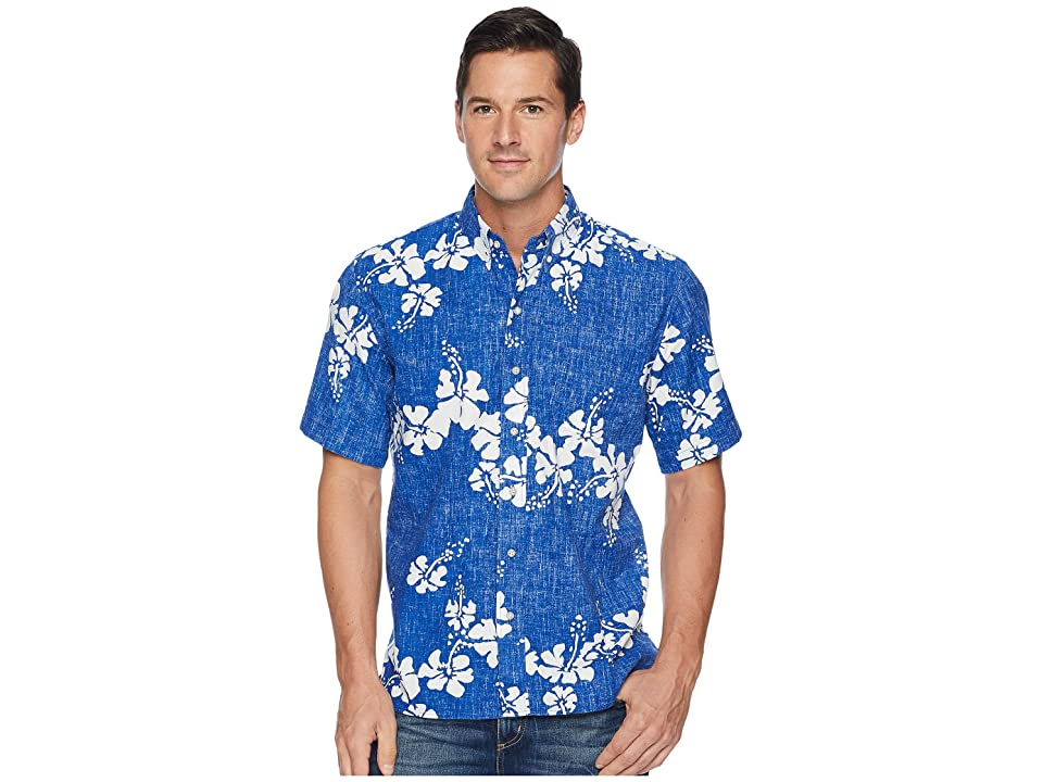 Reyn Spooner 50th State Flower Button Front Aloha Shirt (Blue) Men