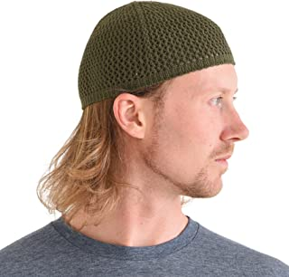 CHARM Silk Kufi Hat Skull Cap - Mens Beanie Hat Handmade in Japan Stretchy 79c797288308