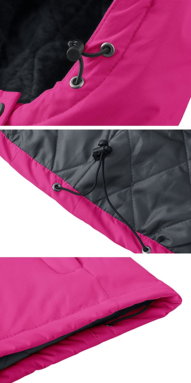 Wantdo Chaqueta de Esqu/í C/álida para Mujer Chaqueta Forro Polar Capucha Integrada Abrigo de Invierno Chaqueta de Snowboard Resistente al Agua Cazadora de Nieve de Monta/ña Exterior Mujeres