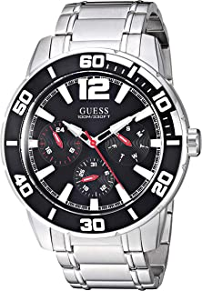 GUESS Men's Quartz Watch with Stainless-Steel Strap, Silver, 22 (Model: U1249G1)