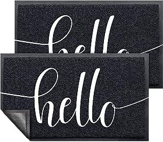 """Door Mat (30""""x17.5"""",Black, 2 Pack), AHQ Durable Welcome Mat Low Profile Floor Mat Front Doormat Indoor Outdoor Doormat Non..."""