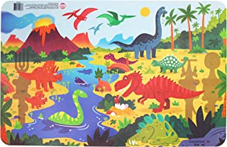 Constructive Eating Dinosaur Placemat for Toddlers, Infants, Babies and Kids - Placemat Toy is Made in The USA Using Mater...
