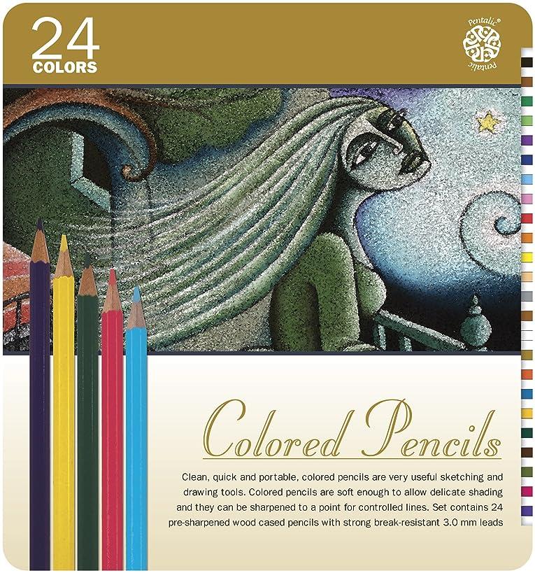 Pentalic Art 24-Piece Colored Pencil Tin Set