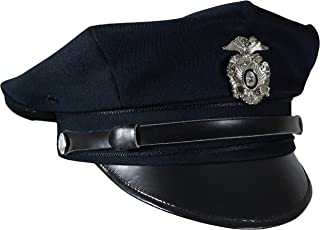 US Police 8 Point Visor Cap - Dark Blue