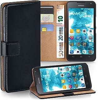 MoEx® Funda Cartera [protección 360°] Compatible con Huawei Ascend Y530 | Cierre magnético, Noir