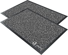 Vounot Set of 2 Doormats 40 x 60 cm Anthracite Entrance Polypropylene Vinyl 406 cm