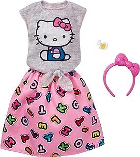 Barbie Fashions Hello Kitty Gray Top & Pink Skirt
