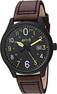 AV-4053 Hawker Hurricane Analog Display Japanese Quartz Watch with Leather Band