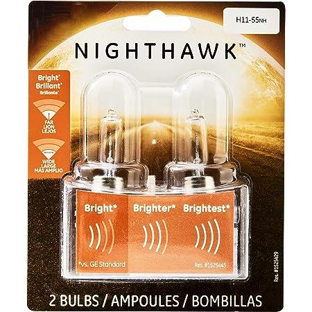 2-PACK H11 Long Life Halogen Auto Bulb Lamps 12V 55W LL H11-55NH NIGHTHAWK  NEW